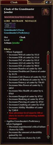 G'Master Jeweler cloak