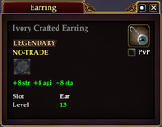 Ivory Crafted Earring