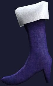 Purple hanging boot (Visible)