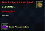 Rune Recipe- AE Auto Attack