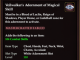 Veilwalker's Adornment of Magical Skill (Collection Reward)