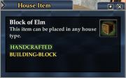 Block of Elm