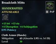 Broadcloth Mitts