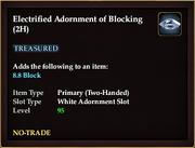 Electrified Adornment of Blocking (2H)