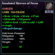 Insulated Sleeves of Focus