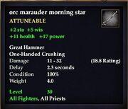 Orc marauder morning star