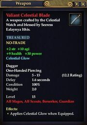 Valiant Celestial Blade