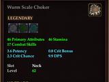 Wurm Scale Choker