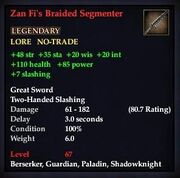 Zan Fi's Braided Segmenter