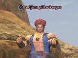 A djinn pillar keeper