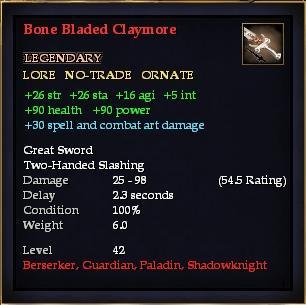 Bone Bladed Claymore Everquest 2 Wiki Fandom Powered By Wikia