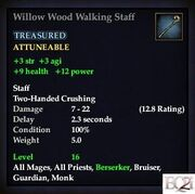 Willow Wood Walking Staff