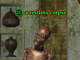 A restless corpse