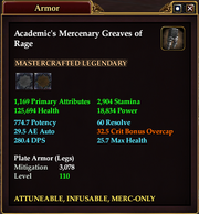 Academic's Mercenary Greaves of Rage