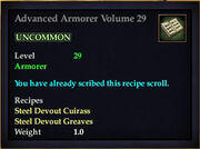 Advanced Armorer Volume 29