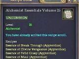 Alchemist Essentials Volume 25