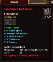 Ascendant's Foot Wraps