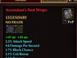 Ascendant's Foot Wraps (Level 80)
