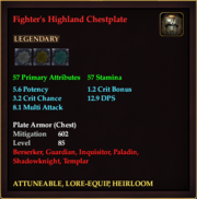Fighter's Highland Chestplate
