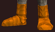 Orange Galvanized Paper Plate Boots (Equipped)