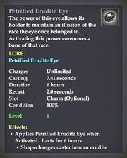 Petrified Erudite Eye