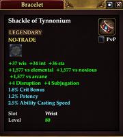 Shackle of Tynnonium (Priest)