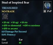 Stud of Inspired Fear