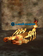 A small scorpion