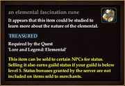 An elemental fascination rune