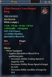 Chief Nuryen's Lava-Forged Ring