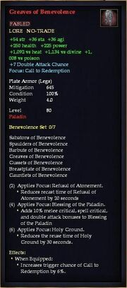 Greaves of Benevolence