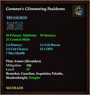 Gremner's Glimmering Pauldrons