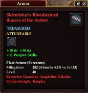 Skirmisher's Bloodstained Bracers of the Ardent