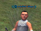 A defiled villager
