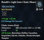 Bandit's Light Iron Chain Shoes