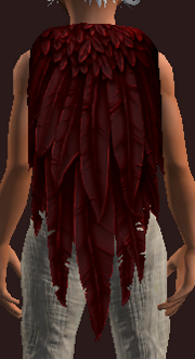 Bloodied Terrorwing Feather Cloak (Equipped)