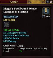 Magus's Spellbound Weave Leggings of Blasting