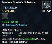 Peerless Sentry's Sabatons
