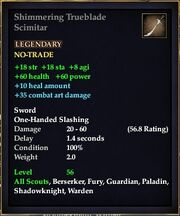 Shimmering Trueblade Scimitar