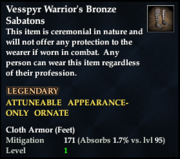 Vesspyr Warrior's Bronze Sabatons