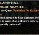 A Blackened Arrow Head
