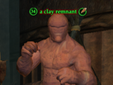 A clay remnant