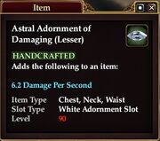 Astral Adornment of Damaging (Lesser)