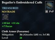 Beguiler's Embroidered Cuffs