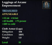 Leggings of Arcane Empowerment