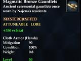 Magmatic Bronze Gauntlets