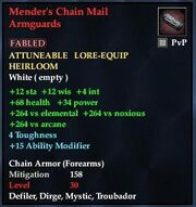 Mender's Chain Mail Armguards