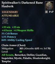 Spiritwalker's Darkened Rune Hauberk