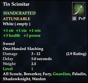 Tin Scimitar