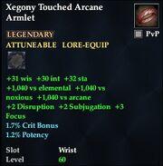 Xegony Touched Arcane Armlet